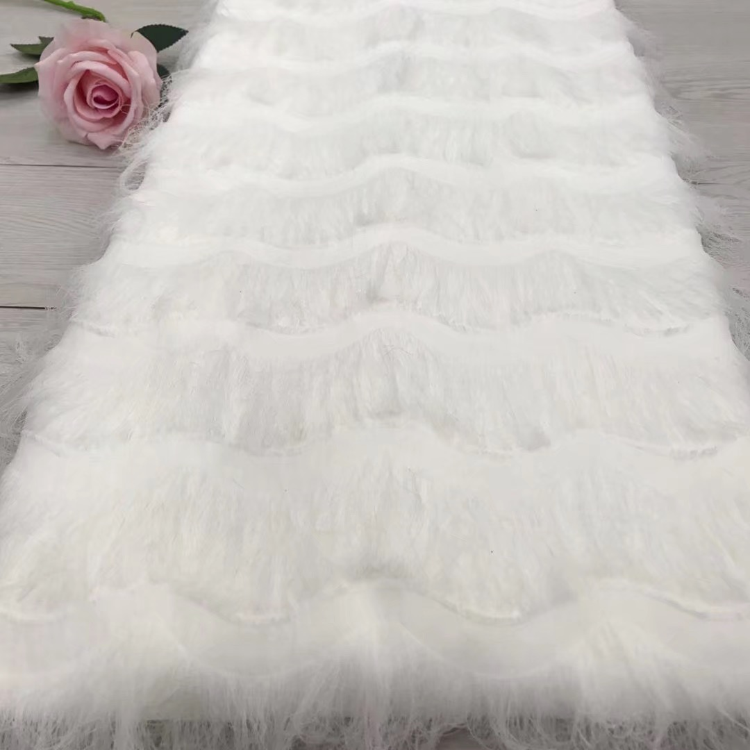 Beautifical Chiffon lace fabrics 2018 royal white lace fabrics latest nigerian lace fabric high quality lace 5yards lot JYN306 in Lace from Home Garden