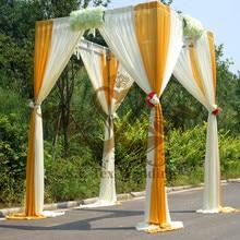 Слоновой кости и золотого цвета церемония павильон свадебный фон занавес