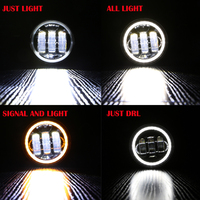 2pcs Pair 30w Led 4 Inch White Round Fog Lights Lens Projector 4 Fog Lamp For