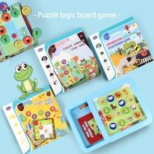 Джунгли животных логическая игра развивающие игрушки головоломка игры Танграм головоломка развиваем навыки мышления игрушки настольная игра для детей