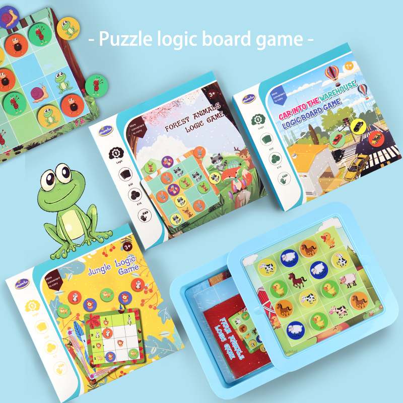 Jungle Animal Logic Game Educational Toys Puzzle Games Tangram Puzzle Develop Reasoning Skills Toys Board Game For Children
