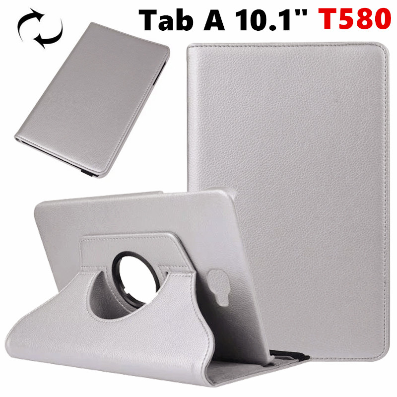 Tab A6 10.1 360 Degree rotating Folio PU Leather Case Flip Cover For Samsung Galaxy Tab A 6 10.1 T580 T585 10.1