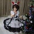 Athemis lolita cosplay traje feito sob encomenda de tamanho para boneca de silicone e adulto estilo white dress