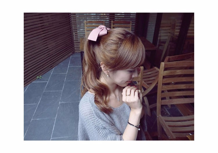 HTB1Y.oAOFXXXXX3apXXq6xXFXXXj Pretty Solid Cloth Big Bow Hair Clip For Women - 7 Colors
