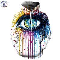 Headbook Paint Fashion Stylish Men Women Hooded Hoodies 3d Print Paint Eyes Thin Sweatshirts Tracksuits Pullovers