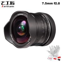 7 Ambachtslieden 7.5Mm F2.8 Fisheye Lens 180 Graden Hoek Toepassen Op Alle Enkele Serie Voor Fuji Canon E Mount micro 4/3 Mirrorless Camera