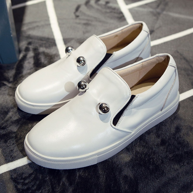 Women Loafers Casual Shoes Woman Genuine Leather Women Famous brand Fashion Ladies Flat Shoes Round Toe Spring Autumn Footwear 2016 autumn fashion women full grain leather flat heel white shoes student bling round toe leather brand basic flats loafers