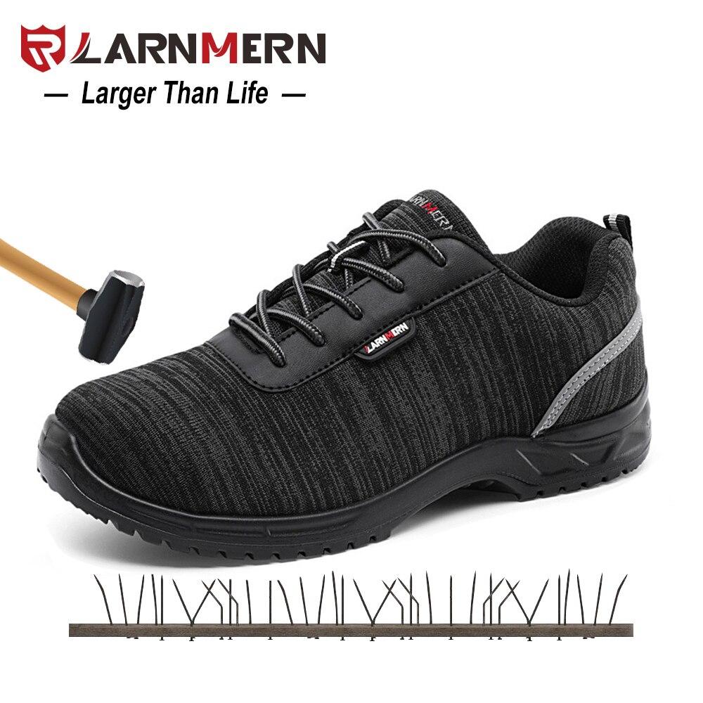 LARNMERN S1P Hommes Chaussures De Sécurité Composite Bout Anti-statique SRC Antidérapant Léger Respirant Travail Chaussures De Sécurité Sneaker