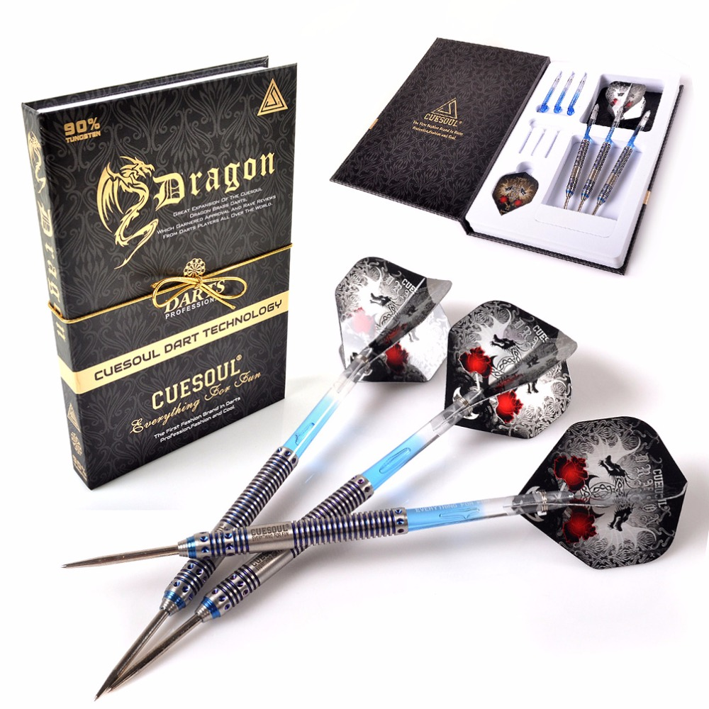 CUESOUL Christmas Gift Dragon 22g/24g/26g Tungsten Steel Tip Dart With Blue Dart Shaft