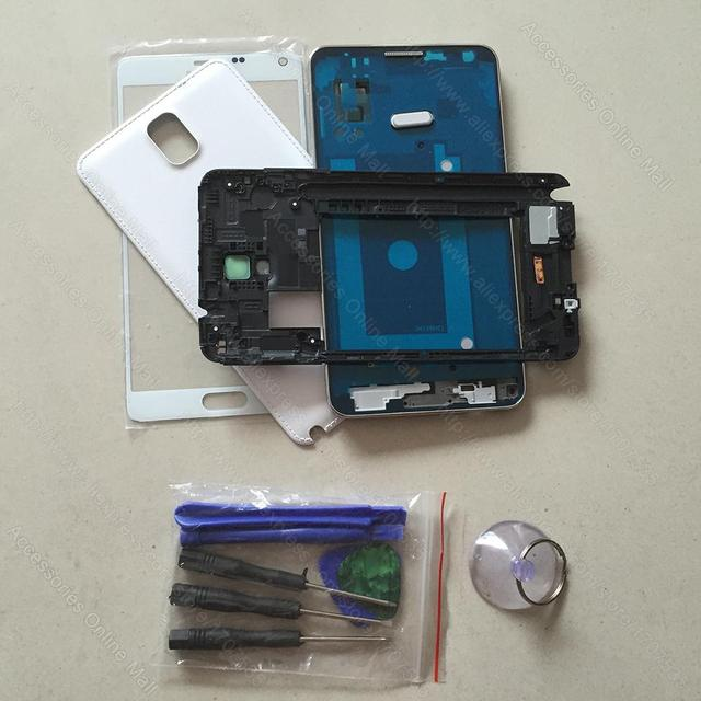 For Samsung Galaxy Note 3 N900 Repair Patrs Original Full Housing Cover & Middle Frame & Battery Door Case & Screen Glass