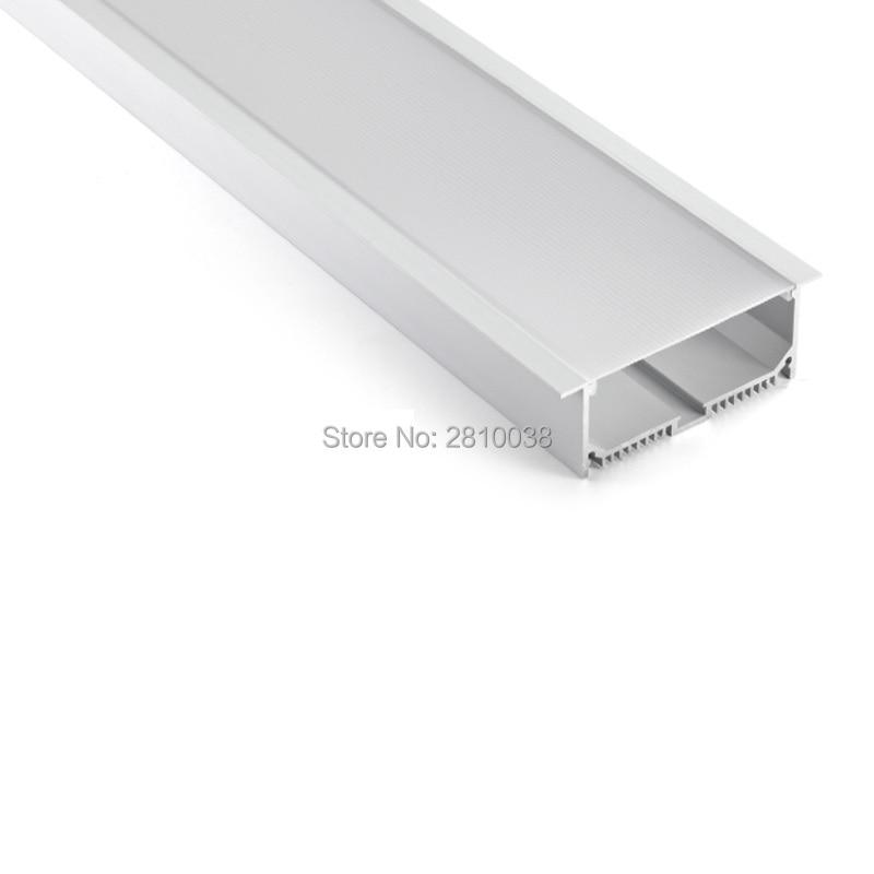 conjuntos 50x2 m lot linear flange de aluminio led habitacao perfil ultra larga t forma levou