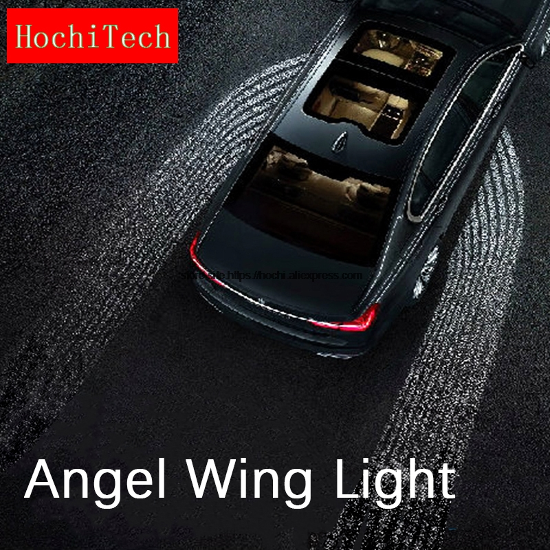HochiTech High quality Waterproof Car Door LED Lighting Welcome Ghost Courtesy Angel Win ...