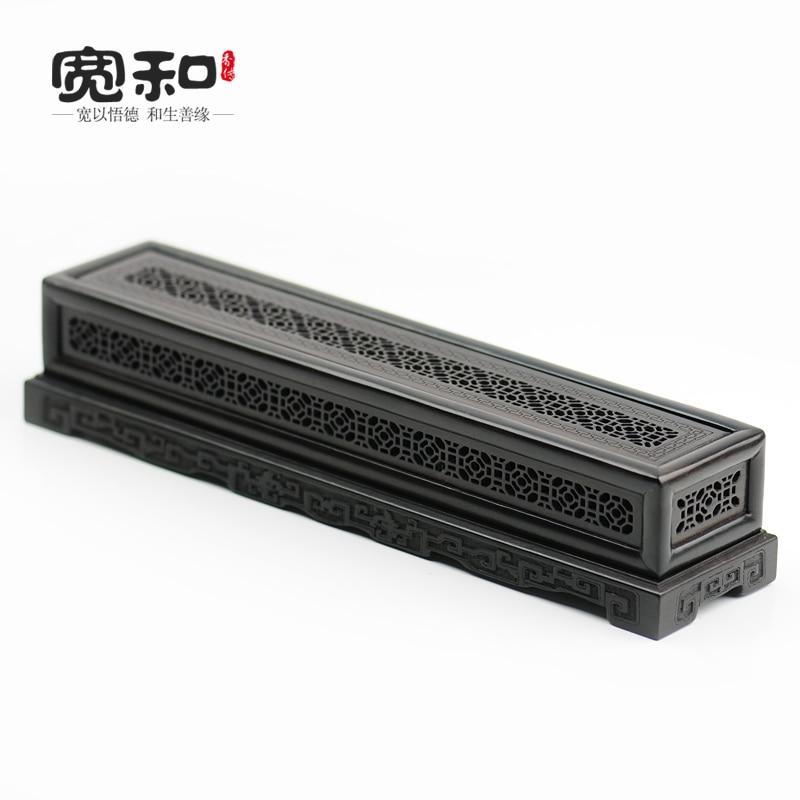 Creative censer violet Tan stencil Windows classic incense box burner wood carved solid bedroom
