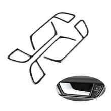 Per Audi A4 B8 2009 2010 2011 2012 2013 2014 2015 2016 In Fibra di Carbonio Maniglia Della Porta Pannello Porta Ciotola Cornice copertura Sticker Trim
