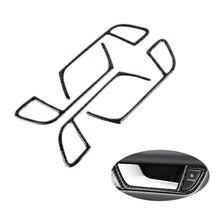 Voor Audi A4 B8 2009 2010 2011 2012 2013 2014 2015 2016 Koolstofvezel Deurklink Panel Deur Kom Frame cover Sticker Trim