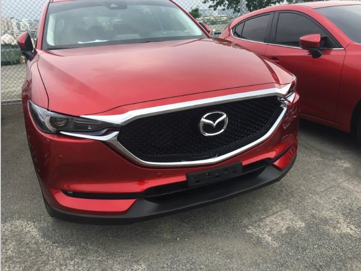 ABS Chrome Front Grille Hood Engine Cover Trim car styling For Mazda CX 5 CX5 2017 2018 KF Series accessories in Chromium Styling from Automobiles Motorcycles