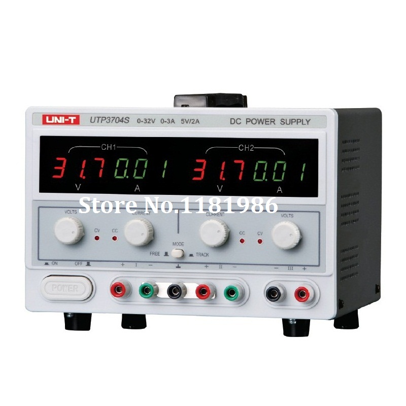 UNI-T UTP3704S 3 Channels DC Power Supply Triple Output 0-32V/3A 5V/2A AC220V UTP-3704S dc power supply uni trend utp3704 i ii iii lines 0 32v dc power supply