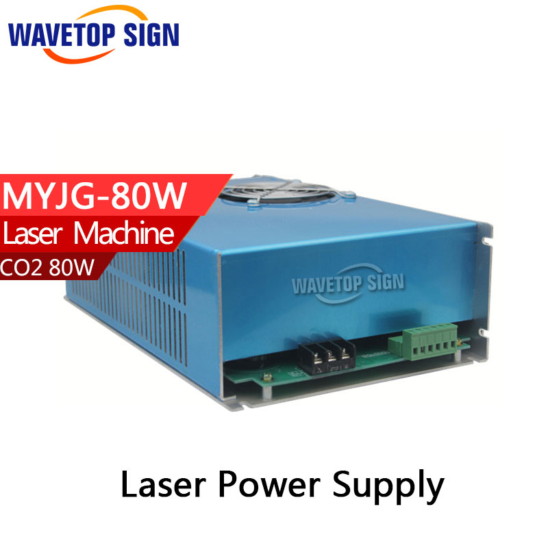 80W CO2 Laser Power Supply for CO2 Laser Engraving Cutting Machine MYJG-80 60w co2 laser power supply for co2 laser engraving cutting machine myjg 60w