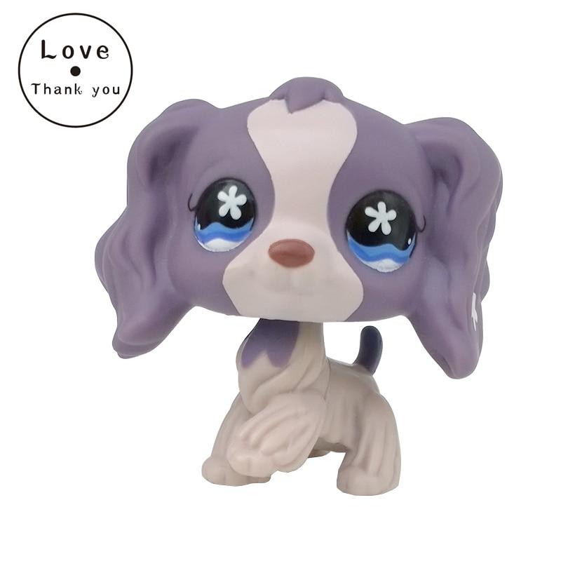 font b pet b font shop lps toys Rare SPANIEL dog 672 Light Dark purple