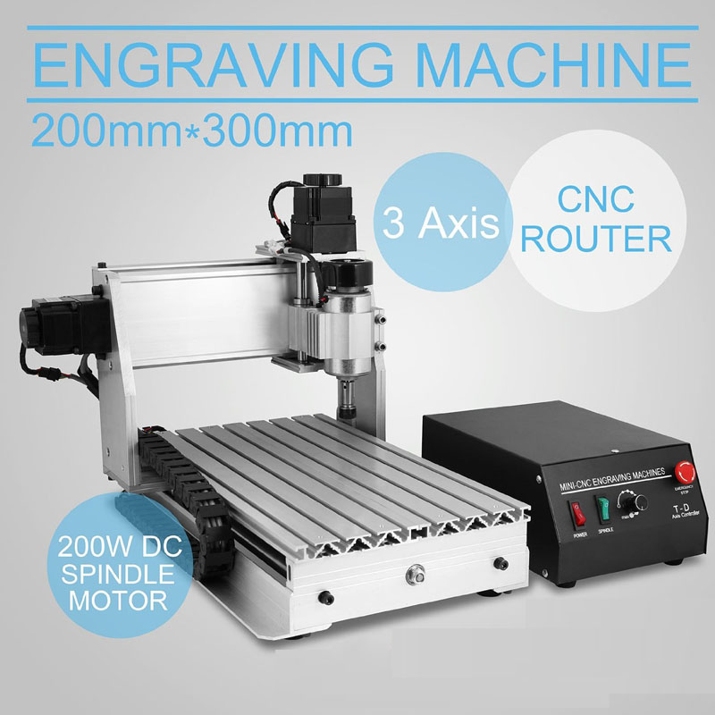 Cnc 3020 PCB 3 Axis Engraving Machine With 300w Spindle Wood Router PCB Milling Machine Work Area 30*20cm