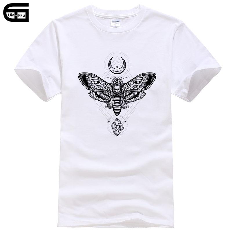 2018 Fashion Moth   T     Shirt   Men Satan Satanism Satanismus Anton Lavey Church Of Goth Gothic Harajuku Funny Rick Tee T336