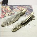 2013 new Copper plating green ancient feather leaves duck tongue hairpin/hairpin finding/Hair ornament