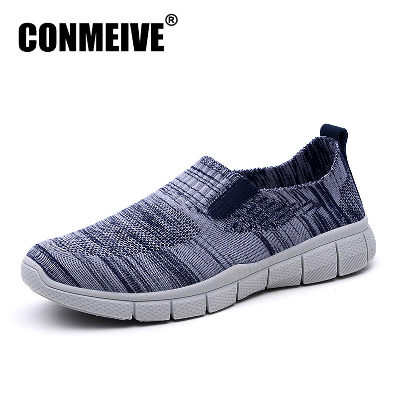 CONMEIVE Breathable Casual Loafers Mesh Shoes Men Summer Man Sneakers Light Slip-on Fashion Brand Designer Mens Flat Shoe цена 2017