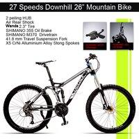 Excelli Bike 26 17 Mountain Bike 27 Speeds Full Suspension Mountain Bicycle Aluminium Alloy Downhill Bicicletas