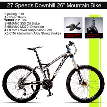 Excelli Bike 26 17 Mountain Bike 27 Speeds Full Suspension Mountain bicycle Aluminium Alloy Downhill Bicicletas