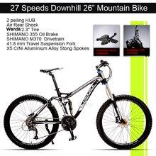 Excelli Bike 26″*17″ Mountain Bike 27 Speeds Full Suspension Mountain bicycle Aluminium Alloy Downhill Bicicletas Mountainbike