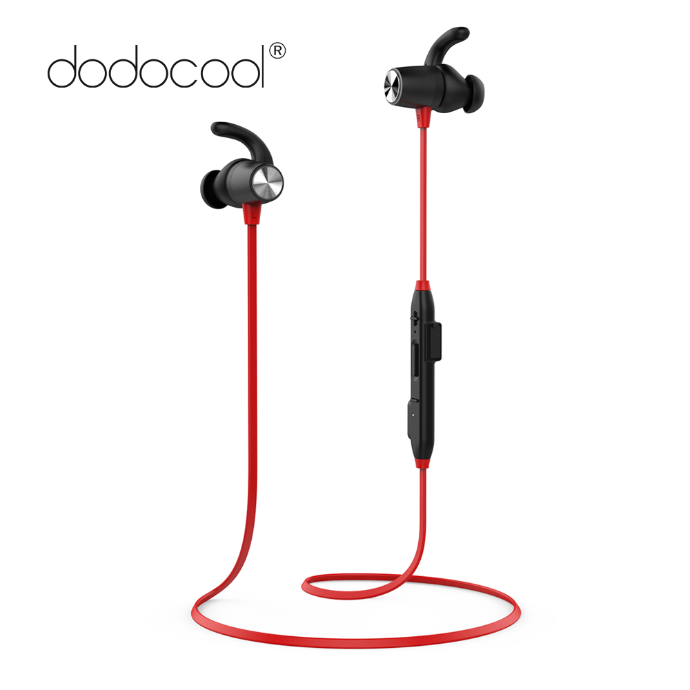 [Ship from RU ] dodocool Wireless Earphone Magnetic Bluetooth Earphone Stereo Sports Headphone with Mic for iPhone X 8 7 Xiaomi ttlife fashion metal mini business bluetooth earphone 4 0 stereo wireless portable headphone handfree with mic for iphone xiaomi