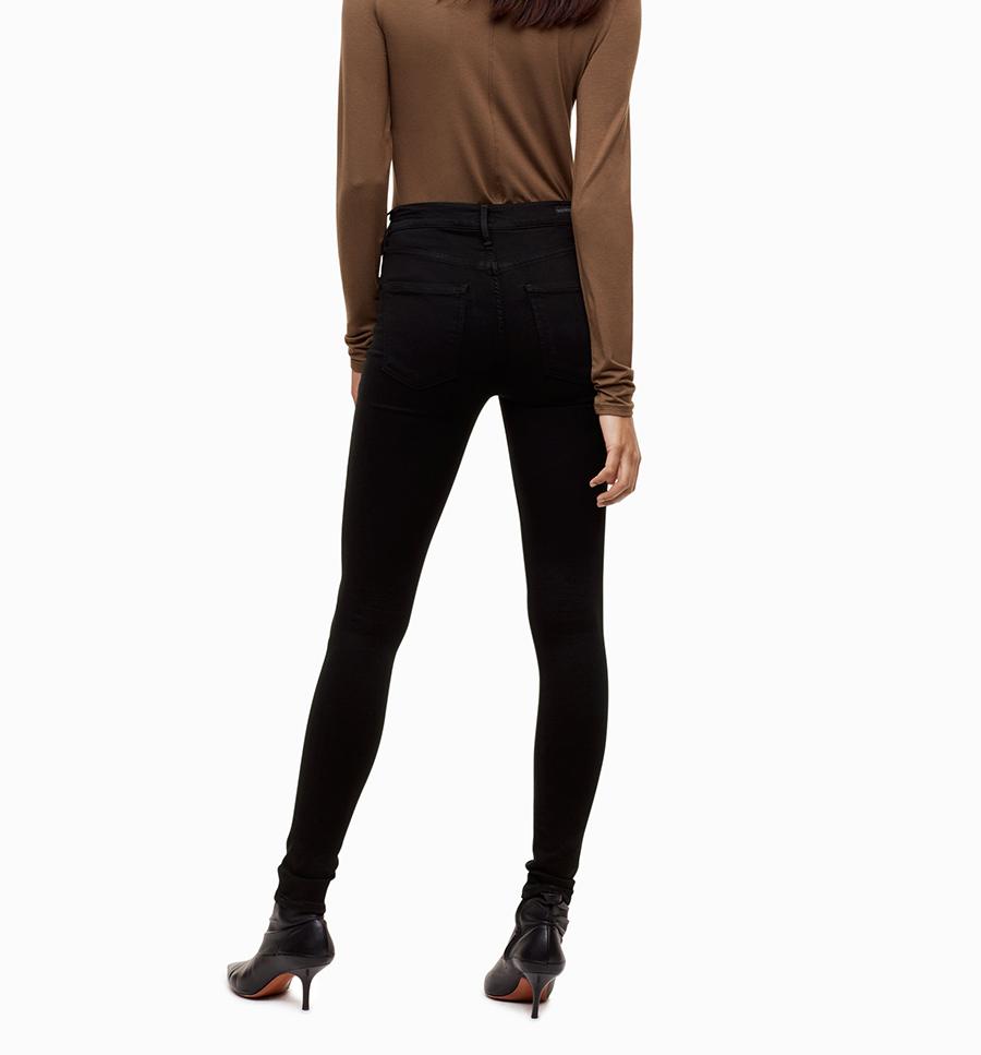 17 Modaberries women skinny jeans black high waist rise in dark 10