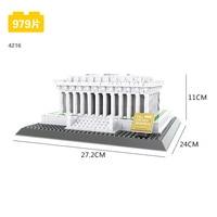 World famous Historical Architecture building block model Lincoln Memorial Washington United States Landscapes bricks toys