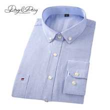 DAVYDAISY 2019 New Arrival 100% Cotton Oxford Men Shirt Long Sleeved Causal