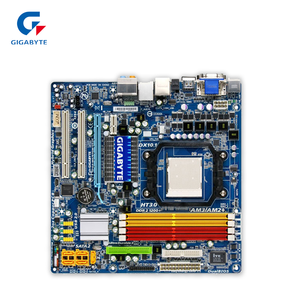 Gigabyte GA-MA785GM-US2H Original Used Desktop Motherboard MA785GM-US2H 785G Socket AM2 DDR2 SATA2 USB2.0 Micro ATX gigabyte ga ma770 s3p original used desktop motherboard ma770 s3p 770 socket am2 ddr2 sata2 usb2 0 atx