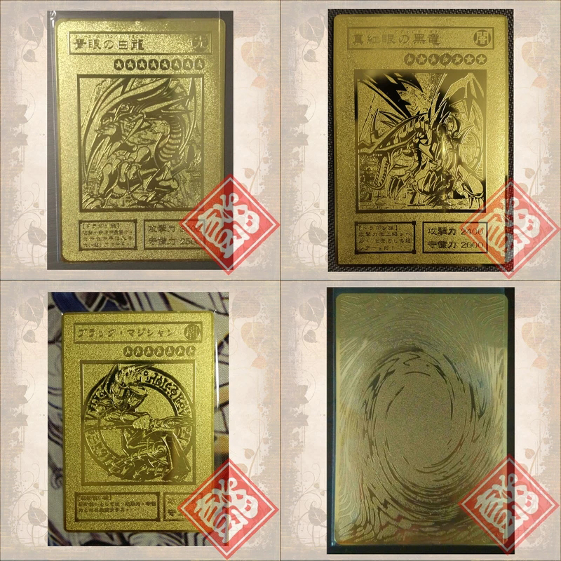 1pcs YU GI OH Gold Card Metal Card Local Japanese Golden Eye White Dragon VOL Edition Collection Card Kids Toy Gift