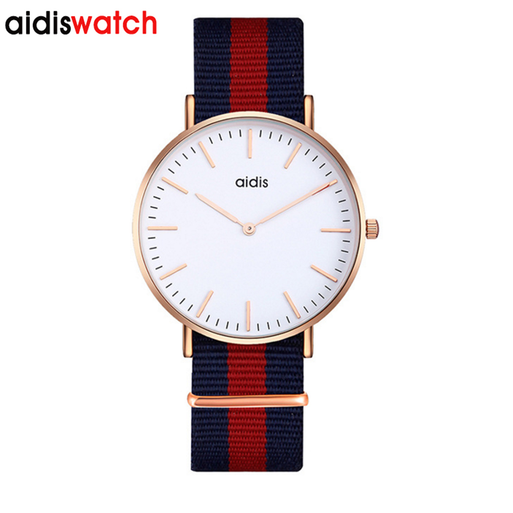 Women Men Watches Aidis Brand Luxury Casual Military Quartz Sports Wristwatch Nylon Strap Male Clock Watch Relogio Masculino weide watches men luxury brand multiple time zone compass military sports watch men quartz wristwatch clock relogio masculino