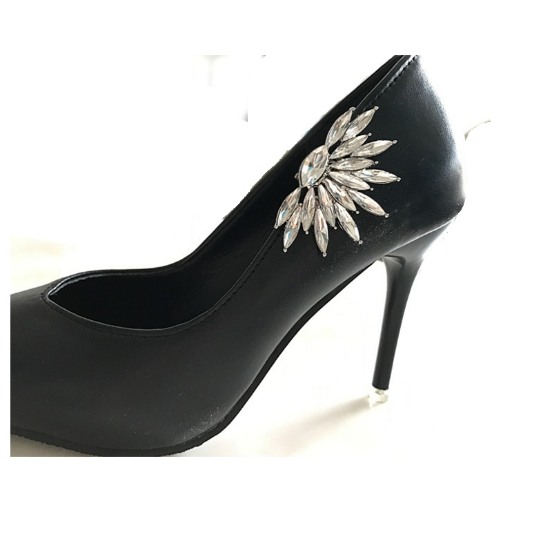 Diy shoes flower charms bridal high heel pumps accessories crystal ... 407831deb940