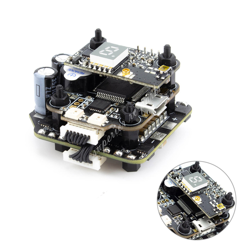 Emax Mini MAGNUM 2 F4 Flight Controller MPU6000 6S BLHELI 32BIT 35amp BLHeli32 Capable ESC Board Current Sensor All-in-One Stack emax f4 magnum all in one fpv stack tower system f4 osd 4 in 1 blheli s 30a esc vtx frsky xm rx for rc models multicopter