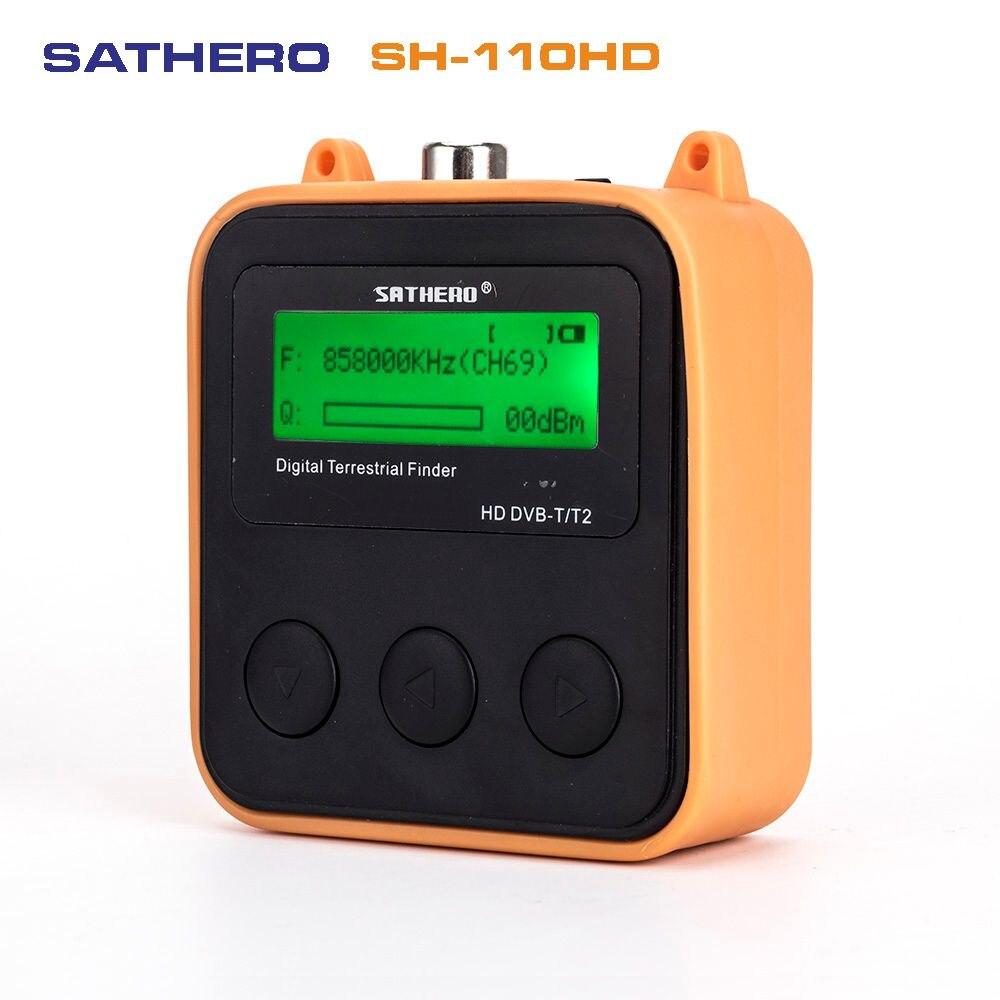 5 PCS/LOT Sathero SH-110HD DVB-T DVB-T2 écran LCD poche numérique terrestre trouveur mieux que satlink ws-6905