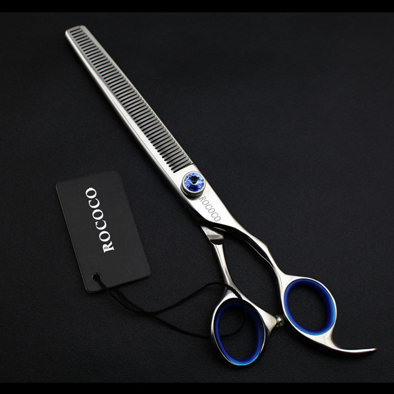 Professional Japan 440c 7 inch Pet Gog Grooming Thinning Scissors Toothed Blade Shears Thinning Rate about 30% Dog Hair Clipper 8 japan dog thinning scissors dog hair scissors groomer pet thinning shears dog hairdresser trimming cat animal hair scissors