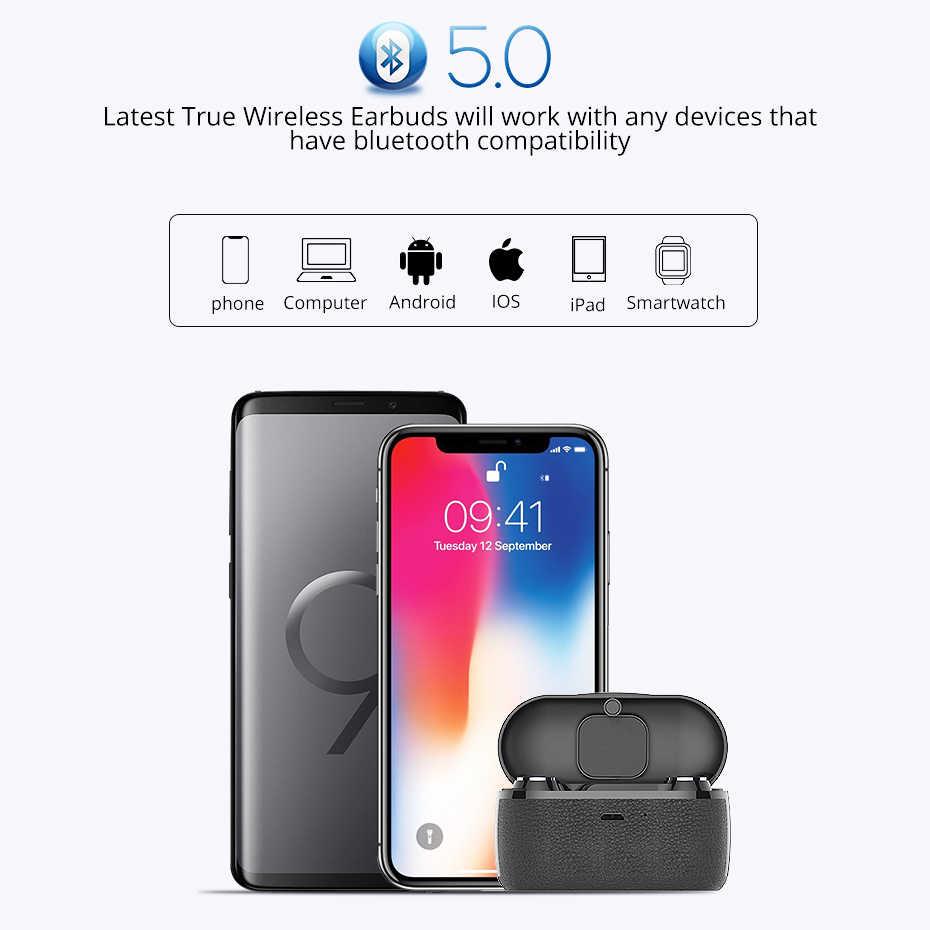 Langsdom Mini słuchawki Bluetooth 5.0 słuchawki douszne auriculares inal mbricos słuchawki douszne z mikrofonem stereofoniczny zestaw słuchawkowy ze wzmocnieniem basów do telefonu Xiaomi