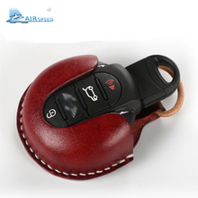 Airspeed Leather Car Key Case Key Bag Cover Protection Holder for Mini Cooper R55 R56 R57 R60 R61 Countryman F54 F55 F56 F57 F60