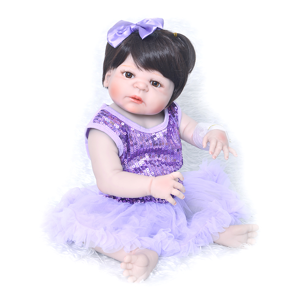 22  Full silicone reborn baby doll real alive Newborn girl bebe princess  dolls toys for children gift bebes reborn menina22  Full silicone reborn baby doll real alive Newborn girl bebe princess  dolls toys for children gift bebes reborn menina