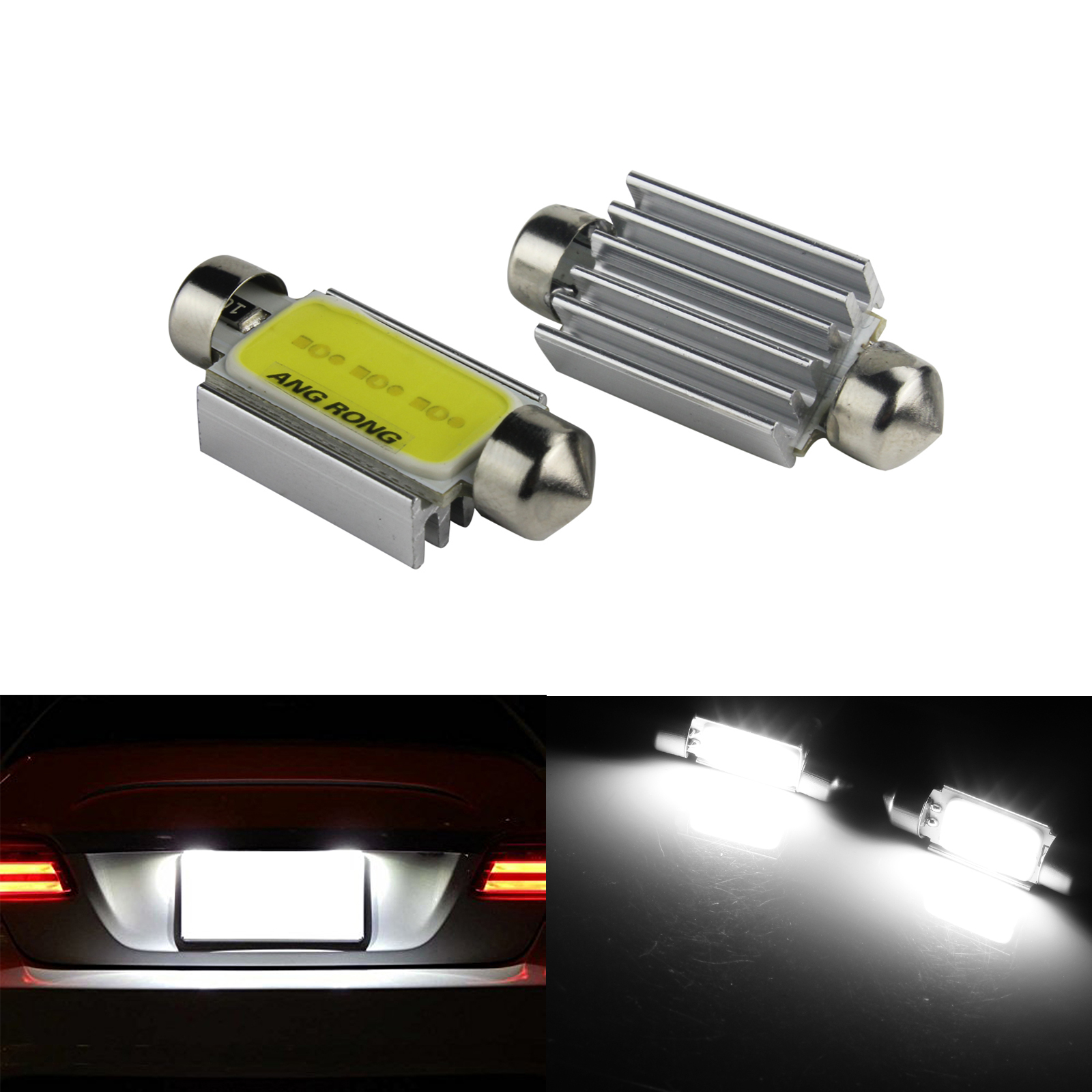2x C5W 239 272 6418 38mm Festoon Bulb No Error LED Number Plate Light White Audi