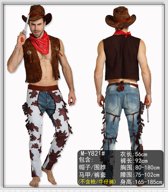 Mens Western Cowboy Costume for Cowboy and Indians Fancy Dress Up Costume Medium  sc 1 st  AliExpress.com & Mens Western Cowboy Costume for Cowboy and Indians Fancy Dress Up ...