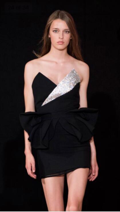 Black dress real photo  Evening Party Black Long Dress Slim