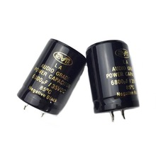 2pcs 6800uF 35V 85 Degrees Electrolytic Capacitor For Audio Hi-Fi Filter jiahui 35v 470uf electrolytic capacitor for diy project silver black 150 pcs
