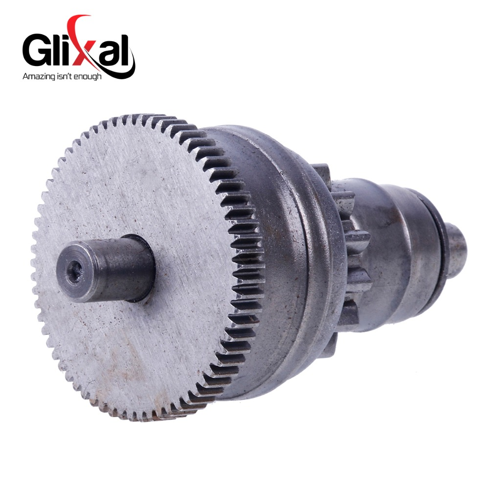Glixal Starter Motor Clutch Bendix for Chinese GY6 49cc 50cc 139QMB 139QMA Scooter Moped ATV Go-Kart Engine ship from germany 150cc gy6 scooter atv go kart engine motor carburetor cvt auto carb complete