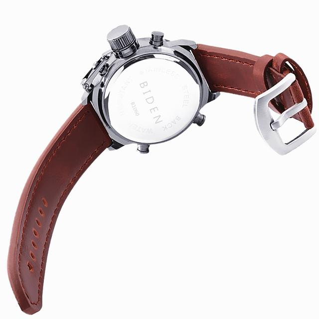 Reloj deportivo y militar LED con correa de cuero / nylon